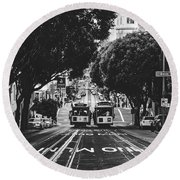 Hills Of San Francisco Round Beach Towel