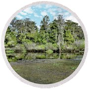 Hillsborough River 1 Round Beach Towel