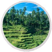 Hillside In Indonesia Round Beach Towel