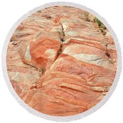 Hillside Of Color In Valley Of Fire Round Beach Towel