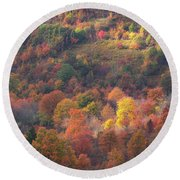 Hillside Rhythm Of Autumn Round Beach Towel