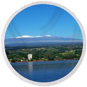 Hilo Bay Round Beach Towel