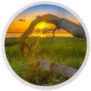 Hilton Head Island Sunrise Round Beach Towel