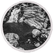 Himalayan Bath Bw Round Beach Towel