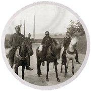 Hine: Coal Miners, 1908 Round Beach Towel