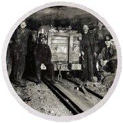 Hine: Coal Miners, 1911 Round Beach Towel