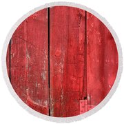 Hinge On A Red Barn Round Beach Towel