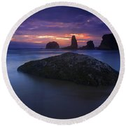 Hint Of Light Round Beach Towel