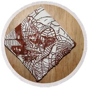 Hints Of Life - Tile Round Beach Towel