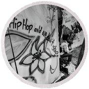 Hip Hop We Don't Stop Round Beach Towel