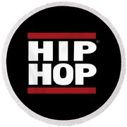 Hiphop Round Beach Towel