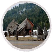 His And Hers Barn 3 Round Beach Towel