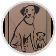 His Masters Voice - Nipper And Chipper Round Beach Towel