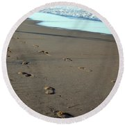 His Path Round Beach Towel