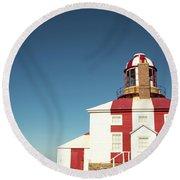 Historic Cape Bonavista Lighthouse, Newfoundland, Canada Round Beach Towel
