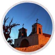 Historic Chiu Chiu Church Chile Round Beach Towel