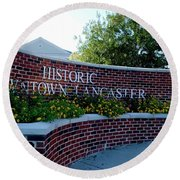 Historic Downtown Lancaster Round Beach Towel