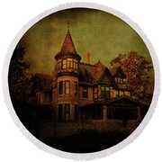 Historic House Round Beach Towel