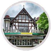 Historic Keswick Theater In Glenside Pa Round Beach Towel