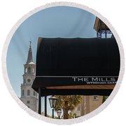 Historic Mills House Lodging Round Beach Towel