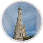 Historic Milwaukee Water Tower Round Beach Towel