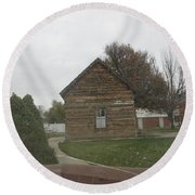 Historic Mormon Cabin Round Beach Towel