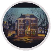 Historic Property South End Haifax Round Beach Towel