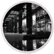 Historic Seagram Building - New York City Round Beach Towel