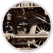 Historic Trains Round Beach Towel