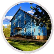 Historic Walnford Gristmill Round Beach Towel