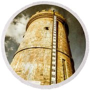 Historic Water Storage Structure Round Beach Towel