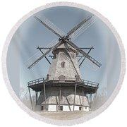 Historic Windmill Round Beach Towel