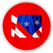 Historical American Flag Round Beach Towel