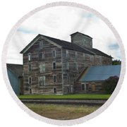 Historical Barron Wheat Flour Mill In Oakesdale Wa Round Beach Towel