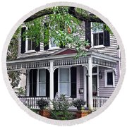Historical Home In Wilmington Round Beach Towel