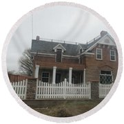 Historical House In Taylor Round Beach Towel