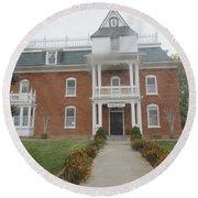 Historical Mormon House Round Beach Towel