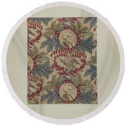 Historical Printed Textile Round Beach Towel