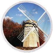 Historical Windmill Round Beach Towel