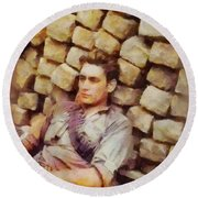 History In Color. French Resistance Fighter, Wwii Round Beach Towel