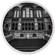 History Museum London Round Beach Towel by Adrian Evans