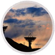 Hitech Sunset Round Beach Towel