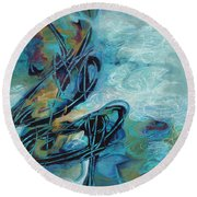 Hither And Thither Round Beach Towel