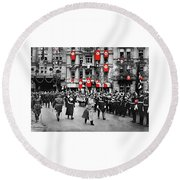 Hitler With Goering And Himmler Marching In Munich Germany C.1934-2016  Round Beach Towel