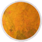 Hkf Yellow Planet Surface Round Beach Towel