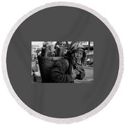 H'mong Woman Round Beach Towel