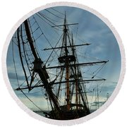 Hms Surprise Round Beach Towel