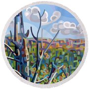 Hockley Valley Round Beach Towel