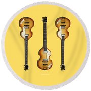 Hofner Violin Bass 62 Round Beach Towel
