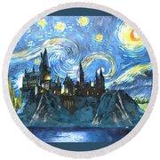 Harry Potter Starry Night Round Beach Towel